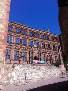 One of Heidelberg Castle's ruined walls