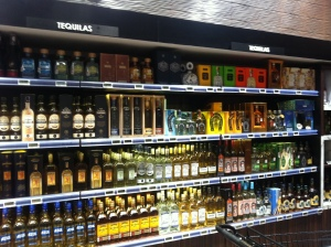 Just some of the tequila selection at the local supermarket..